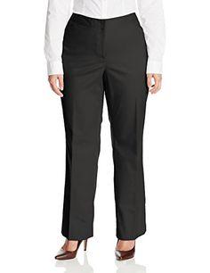 5e1bd62d7b996 Rafaella Womens PlusSize Straight Leg Pant Black 22 -- Read more reviews of  the product