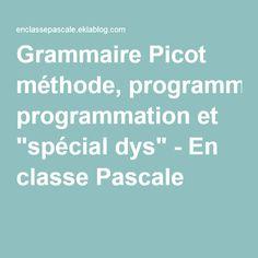 """Grammaire Picot méthode, programmation et """"spécial dys"""" - En classe Pascale !"""