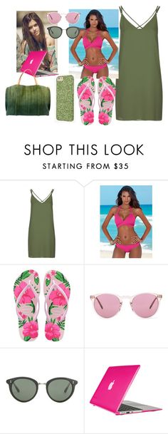 """""""Untitled #523"""" by anasofiasousavieira on Polyvore featuring Topshop, Venus, Havaianas, Oliver Peoples, Pretty Green, Speck and Old Trend"""