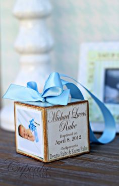 Personalized Vintage Baptism Christening Photo by januaryhart Christening Photos, Baby Christening Gifts, Baby Boy Baptism, Baptism Party, Baptism Gifts, Baptism Favors, Creative Arts And Crafts, Diy Crafts For Gifts, Baby Crafts