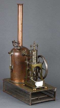 Lot: Jeweler's steam plant model with table engine, Lot Number: 6536, Starting Bid: $500, Auctioneer: Clars Auction Gallery, Auction: May 22nd Art, Furniture, Jewelry, Asian , Date: May 22nd, 2016 CEST