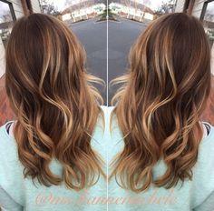 Bailage golden brunette caramel waves