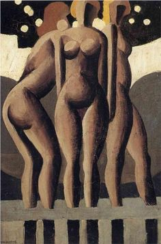 Bathers - Rene Magritte.