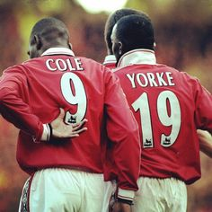 United legend : Andy Cole and Dwight Yorke