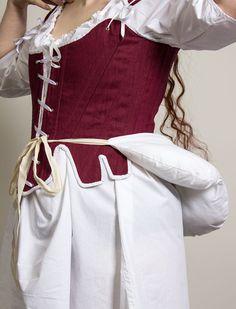 168ac2a24 18th century false rump in cotton