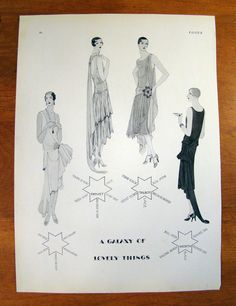 Original Vintage Fashion Illustration Ad  - Vogue - 1928 - Illus D Pollard #PremetTalbotWorth