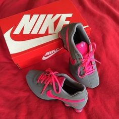 62e930cf1ce9 Super cute Nikes!!! New in box Super cute pair of gray pink