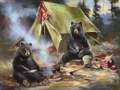 Bears Fishing « Mason Maloof Designs