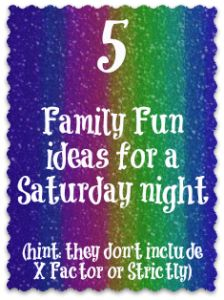 Ideas for Family Fun on a night.