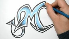 How to draw wild graffiti letter - M
