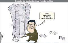 Charge do Lute sobre a delação de Sérgio Machado (17/06/2016). #Charge #SergioMachado #Política #HojeEmDia
