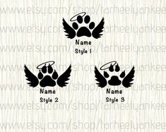 Any of these decals would look great on your back window, work/school locker, computer, notebooks, mirrors etc. They are not meant for walls nor will they Dog Tattoos, Cat Tattoo, Animal Tattoos, Tatoos, Dog Memorial Tattoos, Cat Memorial, Dog Outline, Freundin Tattoos, Maserati Ghibli