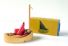 Vintage CREATIVE PLAYTHINGS WOODEN SAILBOAT