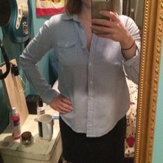 BDG striped blue and white button down 100% cotton Never worn out of the house or washed NWOT in perfect condition! It was an impulse buy gone wrong from urban outfitters BDG brand Urban Outfitters Tops Button Down Shirts
