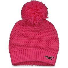Hollister Co Preppy Winter Hat found on Polyvore Pom Pom Beanie Hat cd3c31dae877