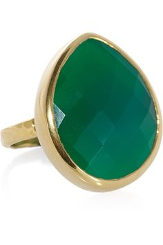 Monica Vinader|Nugget 18-karat gold-vermeil onyx ring|NET-A-PORTER.COM