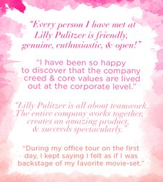 Lilly Pulitzer Intern Quotes- see how to be apply