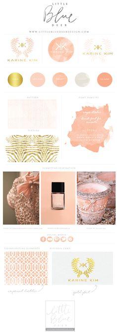 Custom blog design, website design and logo design by www.littlebluedeerdesign.com #logodesign