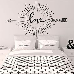 Wall Murals Bedroom, Bedroom Decor, Gypsy Home Decor, Wall Painting Decor, Chalkboard Decor, Advent, House Wall, Home Goods, Love Amor