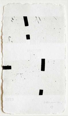 Eduardo Chillida (1924-2002) Argi I, 1988. Etching and aquatint on Segundo Santos paper. 21cm H x 12cm W. Edition of 50 copies.