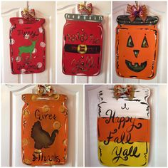 A personal favorite from my Etsy shop https://www.etsy.com/listing/244214939/southern-mason-jar-door-hanger-wood-fall