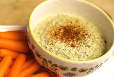 Raw Zucchini Hummus::  1 cup diced zucchini (peel if you like) 1/3 cup raw tahini 1/4 cup fresh lemon juice 2 cloves garlic, minced 1/4 teaspoon sea salt, plus more to taste 2 teaspoons ground cumin 1. Combine all of the ingredients into a mini food chopper, and blend until smooth and creamy!