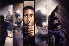 """Alex Ross painted this mixed media work of Batman (from """"Batman: War on Crime,"""") in November 1999."""