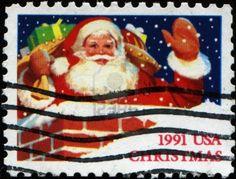 U.S. Santa postage c. 1991