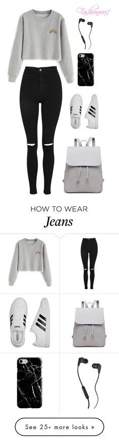 """""""Disturbing"""" by fashionova1 on Polyvore featuring Topshop, adidas, Recover and Skullcandy"""