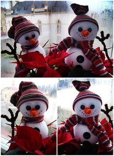 Vánoční tvoření s dětmi - Sněhuláci, milí chlápci... | Moje mozkovna