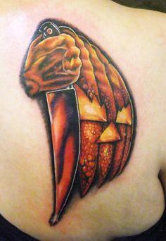 My first tattoo tributed to John Carpenter's Halloween. Andrew Sussman at Dermal Grafix
