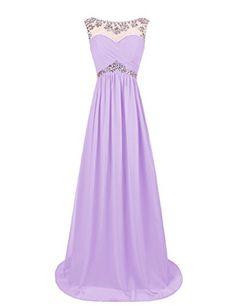 Dresstells® Long Chiffon Prom Dress with Beadings Wed…