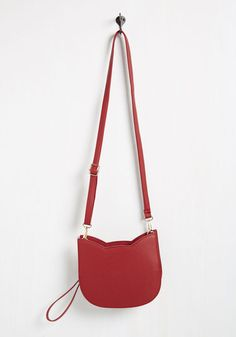 No Hard Felines Bag in Red - Faux Leather, Red, Solid, Cats, Variation