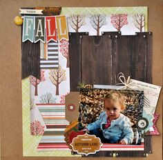 Practical Scrappers  has a fun post today with projects inspired by Pinterest, very fun!     I was pinspired by this layout by Brenda Beckn...