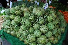 artichokes... from the Farmers' Markets.... yum!