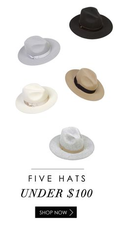 FIVE HATS UNDER $100 | http://styledbynoir.com/collections/hats