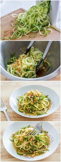 Spiralized Asian Cucumber Noodle Salad | kitchenshares