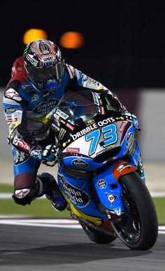 Alex Marquez. Sideways. MotoGP Qatar 2015.