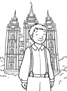 LDS Primary Coloring Pages Lds temple coloring pages Coloring