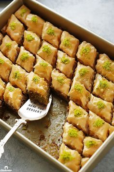 Thirty crisp layers of buttery phyllo and heaps of fragrant pistachios, combine to make an utterly delicious, light yet rich baklava that tastes like it came straight from a Turkish bakery. Plus recipe VIDEO included! Winter Desserts, Desserts For A Crowd, Greek Desserts, Arabic Dessert, Arabic Sweets, Arabic Food, Ramadan Sweets, Turkish Sweets, Ramadan Recipes