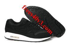 Cheap Mens Nike Air Max 1 Black Black Sail Shoes For Sale --- Kinda like these! Off Nike Air Max 1 waannnt. Nike Air Max Trainers, Nike Air Max 87, Nike Air Max White, Nike Air Max Mens, Cheap Nike Air Max, Nike Shoes Cheap, Cheap Jordans, Jordan Sneakers, Nike Sneakers