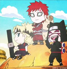 The Sand siblings in the Rock Lee spin-off! :3