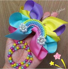 Making Hair Bows, Diy Hair Bows, Diy Bow, Ribbon Art, Ribbon Crafts, Ribbon Bows, Hair Bow Tutorial, Hair Ribbons, Hair Decorations