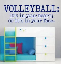 VOLLEYBALL: Itu0027s In Your Heart   Vinyl Wall Decals   Sports Stickers