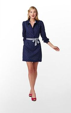 Lilly Pulitzer - navy polka dot