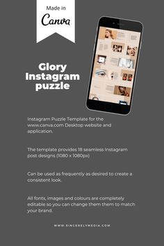 Get the Instagram puzzle look with this amazing template, made on Canva so all you have to do is plug and play with your own branding.     Instagram, Instagram design, Instagram hacks, Instagram tips and tricks, Instagram tips, Instagram templates, Creative Market, Instagram Canva Template, Instagram aesthetic, Instagram grid, Instagram perfect grid, Instagram content, Instagram content creation, Instagram content template, instagram post ideas, instagram content ideas, instagram design Instagram Grid, Instagram Design, Instagram Tips, Instagram Posts, Grid Layouts, Instagram Templates, Change Background, No Photoshop, Presentation Slides