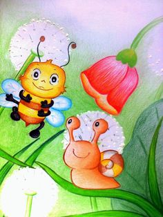 Horváth Anda: Kiscsiga és a méhecske (mese) | MeseLes Naha, Tweety, Kindergarten, Bee, Fictional Characters, Honey Bees, Kindergartens, Bees, Fantasy Characters