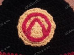 Borderlands Video Game Vault Symbol Large Applique Crochet Pattern free video game inspired applique crochet pattern from cRAfterChick.com
