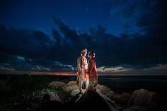 """One frame from Karishma and Rahul's wedding. #southseasislandresort #beachwedding #sunset #backlit #wedding #weddingphoto #weddingsbysocialites"""