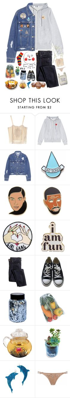 """kid who loves pins and cupcakes"" by helooksoperfc ❤ liked on Polyvore featuring Jill Stuart, Play Comme des Garçons, Steve J & Yoni P, Stay Home Club, Georgia Perry, ban.do, J.Crew, Converse, CO and Marina Fini"